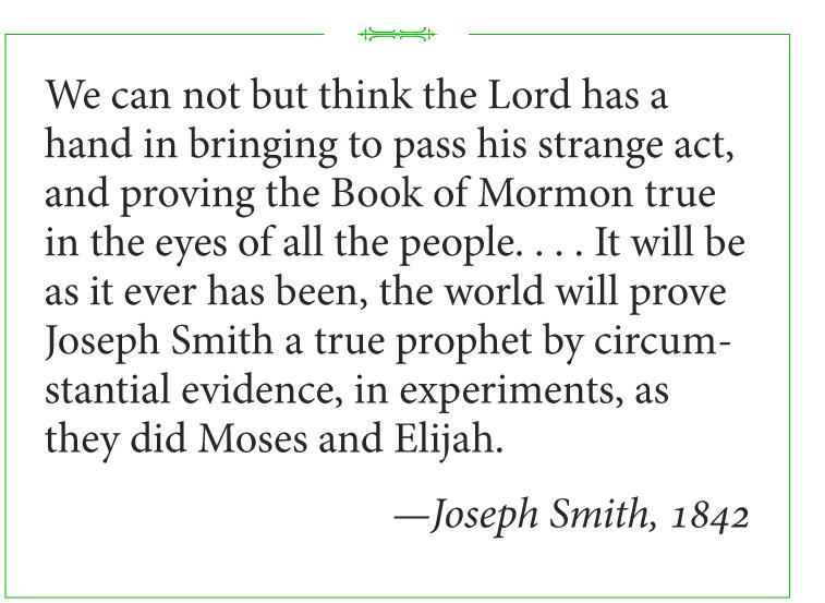 Joseph Smith on How the Book of Mormon Will Prove Him a True