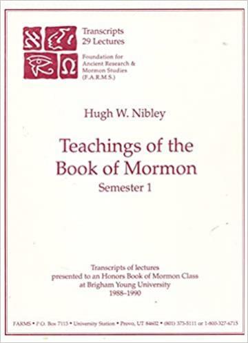 Teachings of the Book of Mormon: Semester 1