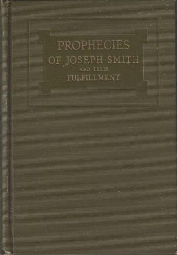 Book cover of Prophecies of Joseph Smith and their Fulfillment