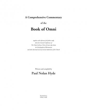 A Comprehensive Commentary of the Book of Omni