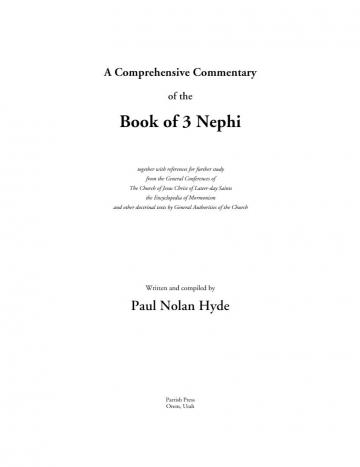 A Comprehensive Commentary of the Book of 3 Nephi