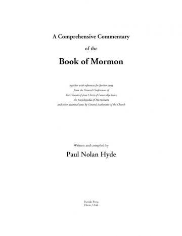 A Comprehensive Commentary of the Book of Mormon