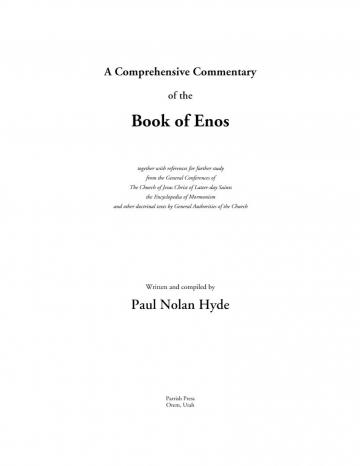 A Comprehensive Commentary of the Book of Enos