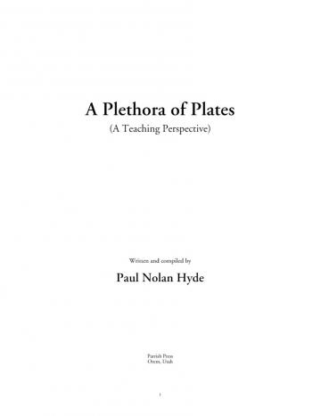 A Plethora of Plates: A Teaching Perspective
