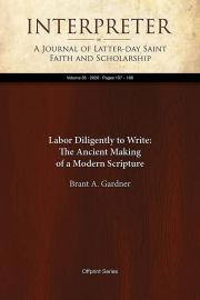 Book cover of Labor Diligently to Write