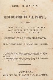 Book cover of A Voice of Warning and Instruction to All People