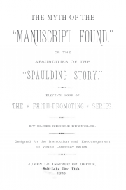 "The Myth of the ""Manuscript Found"" or the Absurdities of the ""Spaulding Story"""