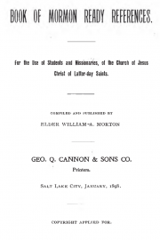 Book of Mormon Ready References: For the Use of Students and Missionaries, of the Church of Jesus Christ of Latter-day Saints