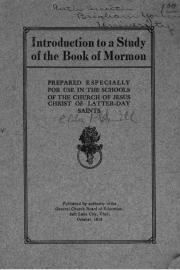 Introduction to a Study of the Book of Mormon: Prepared Especially for Use in the Schools of The Church of Jesus Christ of Latter-day Saints